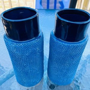 Other - Set of Thailand Rigid Burlap Pattern Vase